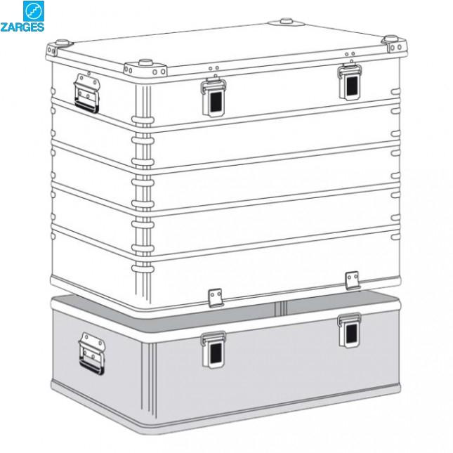 Ящик алюминиевый транспортировочный Zarges K470 Plus #40504/40506