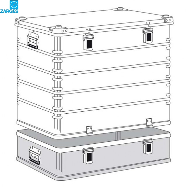Ящик алюминиевый транспортировочный Zarges K470 Plus #40503/40506