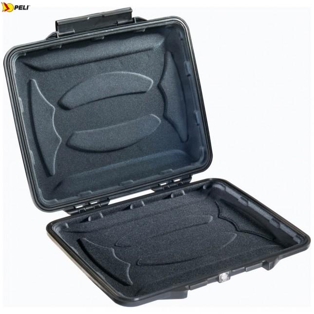 Кейс - футляр пластиковый Peli #1065CC с вкладышем открытый с iPad общий вид