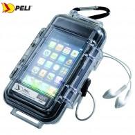 Кейс - футляр пластиковый Peli #i1015 для iPhone, прозрачный с iPhone