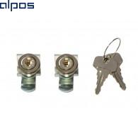 Комплект замков встраиваемый (одинаковые ключи) Zarges #40833