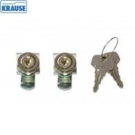 Комплект замков встраиваемый (одинаковые ключи) Krause #256805