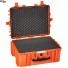 #5325 Кейс - Ящик пластиковый Explorer, оранжевый, просечной поропласт