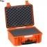 #3818 Кейс пластиковый Explorer, оранжевый, просечной поропласт