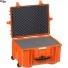 #5833 Кейс - Контейнер пластиковый Explorer, оранжевый, просечной поропласт
