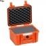 #2717 Кейс пластиковый Explorer, оранжевый, просечной поропласт