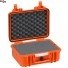 #3317 Кейс пластиковый Explorer, оранжевый, просечной поропласт