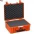 #4419 Кейс пластиковый Explorer, оранжевый, просечной поропласт
