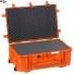 #7630 Кейс - Контейнер пластиковый Explorer, оранжевый, просечной поропласт