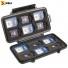 Кейс - футляр пластиковый Peli #0915 для SD карт памяти - открытый с картами