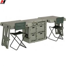 Мобильный стол 2 рабочих места Peli-Hardigg #FD3429, зелёный
