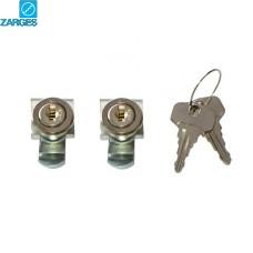 #40833 Замок встраиваемый Zarges, одинаковые ключи