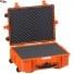 #5823 Кейс - Контейнер пластиковый Explorer, оранжевый, просечной поропласт