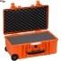 #5122 Кейс - Контейнер пластиковый Explorer, оранжевый, просечной поропласт
