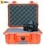 Кейс пластиковый Peli #1400, оранжевый, с поропластом