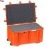 #7641 Ящик - Контейнер пластиковый Explorer, оранжевый, просечной поропласт